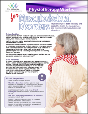 Physiotherapy Works - Musculoskeletal Disorder