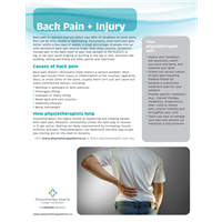 Back Pain & Injury Organization - customizable