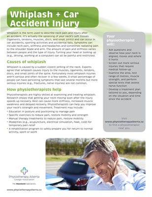 Whiplash & Car Accident Injury Ind. - customizable