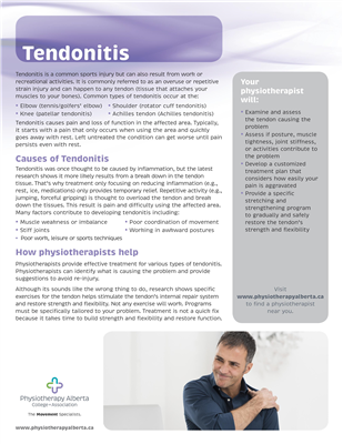 Tendonitis Organization - customizable