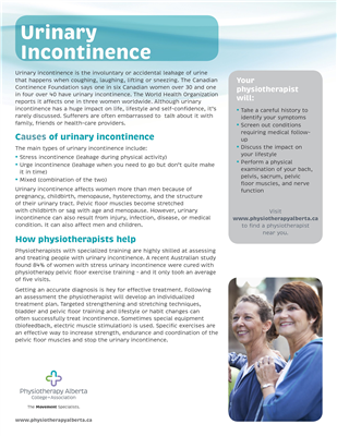 Urinary Incontinence Organization - customizable