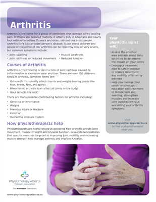 Arthritis Individual - customizable